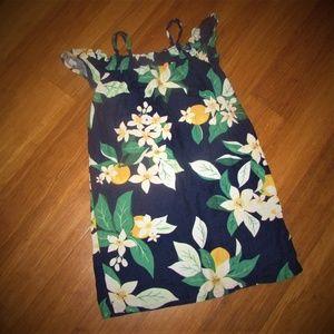 Old Navy Cold Shoulder Navy Floral Dress